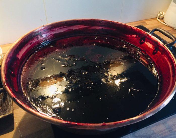 Gelée de sureau : cuisson