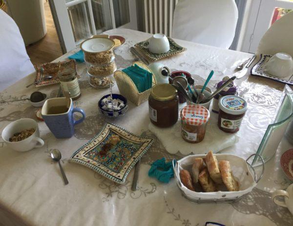 Petit déjeuner Villa Tranquillité