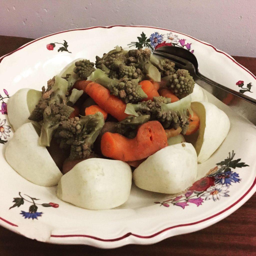 Légumes vapeur et toastinade