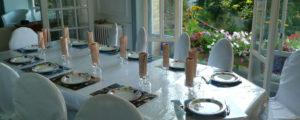 Table d'hôte bio, végétarienne, avec ou sans poisson