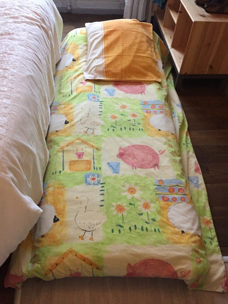 On peut ajouter un couchage d'appoint enfant dans les chambres: à indiquer lors de la réservation