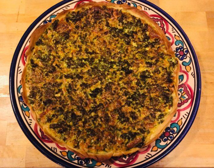 Tarte de chou kale : connaissez-vous le chou kale ? C'est délicieux et plein de propriétés. C'est un des meilleurs légumes. Table d'hôte de la Villa Tranquillité, Rohan 56