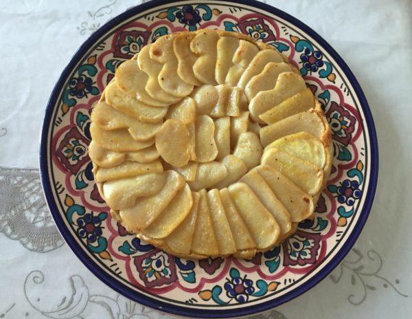Tarte de navets et à l'orange. Une recette originale et pleine de saveurs. Table d'hôte de la Villa Tranquillité, Rohan 56