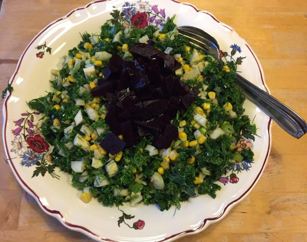 Chou kale en crudité