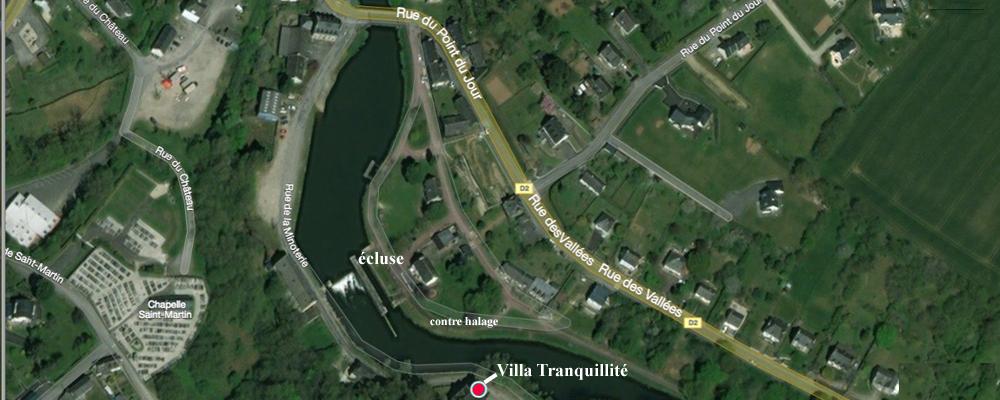 Accès Villa Tranquillité, Rohan (56) près de Pontivy, Loudéac et Locminé